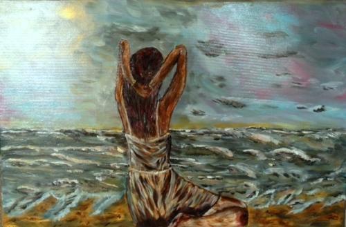 Meisje aan de waterkant